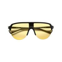 District Vision Óculos De Sol 'black And Yellow Nako' - Preto