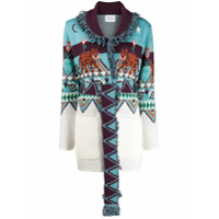 Hayley Menzies Cardigan Jacquard Tigress - Azul