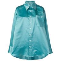 33c8020ee0 Matthew Adams Dolan Camisa Oversized Com Pregas - Azul ...