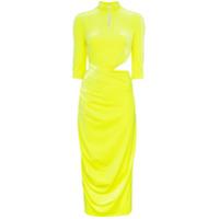 Supriya Lele Vestido Midi Com Recorte - Amarelo