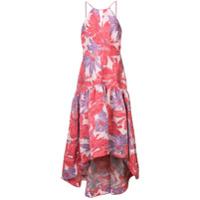Badgley Mischka Vestido Floral - Rosa
