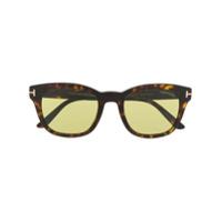 Tom Ford Eyewear Óculos De Sol 'eugenio' - Marrom