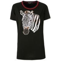Dolce & Gabbana T-Shirt Bordada - Preto