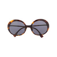 Fendi Eyewear Óculos De Sol Redondo Ff 0430/s - Marrom