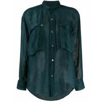 Katharine Hamnett London Camisa De Chiffon Alex - Verde