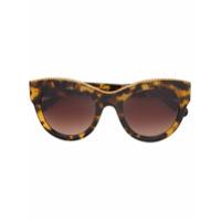 Stella Mccartney Eyewear Óculos De Sol Oversized - Marrom