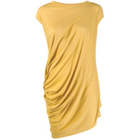 Rick Owens Lilies Vestido Com Franzido Nas Mangas - Amarelo