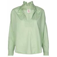 A Shirt Thing Camisa Com Babados Na Gola - Verde