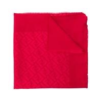 Fendi Cachecol Com Logo - Vermelho