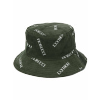 Fiorucci Chapéu De Veludo Cotelê Com Logo - Verde