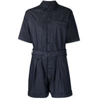 Dsquared2 Macaquinho Mangas Curtas Com Cinto - Azul