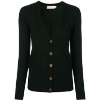 Tory Burch Cardigan Decote V - Preto