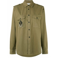 Saint Laurent Camisa Com Patch - Green