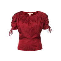 Brock Collection Blusa Com Franzido - Vermelho