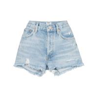 Agolde Short Jeans Destroyed - Azul