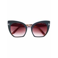Tom Ford Eyewear Óculos De Sol 'samantha' - Marrom
