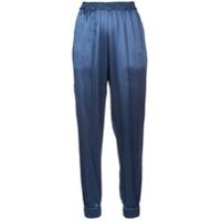 Fleur Du Mal Calça De Pijama Em Seda - Azul