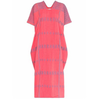 Pippa Holt Embroidered Kaftan Midi Dress - Rosa