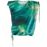 The Attico Blusa Com Estampa Tie-Dye - Verde