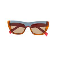 Marni Eyewear Óculos De Sol Retangular - Cinza