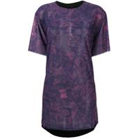 Diesel Camiseta Floral - Roxo