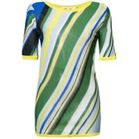 Dvf Diane Von Furstenberg Blusa De Tricô Listrada - Estampado