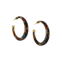 Gas Bijoux Caftan Hoop Earrings - Marrom
