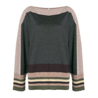 Antonio Marras Stripe Detail Sweater - Cinza