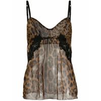 Dolce & Gabbana Camisola Com Estampa De Leopardo - Marrom