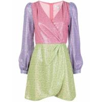 Olivia Rubin Vestido Com Acabamento Contrastante - Rosa