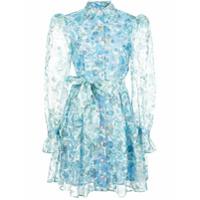 Olivia Rubin Vestido Translúcido Floral - Azul