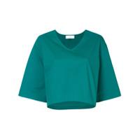 Le Ciel Bleu Camiseta Cropped - Verde