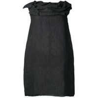 Stefano Mortari Ruffled Neck Dress - Preto