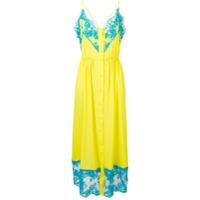 Msgm Vestido Longo - Amarelo