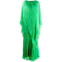 Irina Schrotter Vestido De Festa Com Pregas - Verde