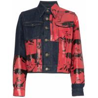 Calvin Klein 205W39Nyc Jaqueta Jeans Estampada 'x Andy Warhol Dennis Hopper' - Azul