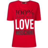 Love Moschino Camiseta 100% Love Moschino - Vermelho