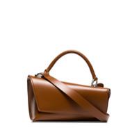 Venczel Bolsa Tiracolo Vx De Couro - Brown