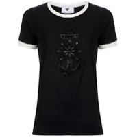 Andrea Bogosian T-Shirt Pinny Bordada - Preto
