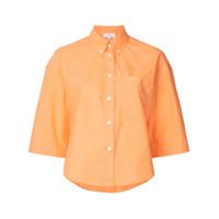 Ck Calvin Klein Camisa Cropped Com Botões - Amarelo