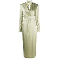 Materiel Vestido Envelope Midi - Verde
