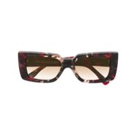 Cutler & Gross Óculos De Sol Com Efeito Marmorizado - Vermelho