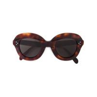 Celine Eyewear Óculos De Sol Oversized 'havana' - Marrom