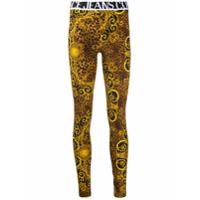 Versace Jeans Couture Legging Com Logo - Amarelo