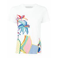 Mary Katrantzou Camiseta Com Bordado Floral - Branco