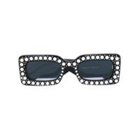 Gucci Eyewear Óculos De Sol Com Aplicação De Pérolas - Preto