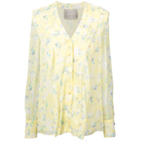 Jason Wu Collection Blusa De Seda Floral - Amarelo
