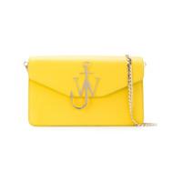 Jw Anderson Bolsa Tiracolo De Couro - Amarelo