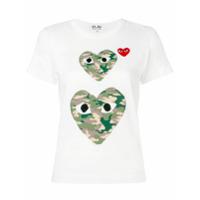 Comme Des Garçons Play Camiseta Mangas Curtas - Branco