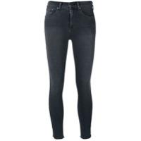 Rag & Bone /jean Calça Jeans Slim Fit Cropped - Cinza